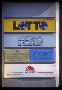 Signs, Krakow, Poland.