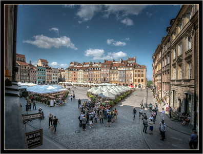 The restored Old Town in Warsaw, Poland.