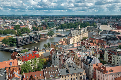 The Oder River at Wrocław, Poland.