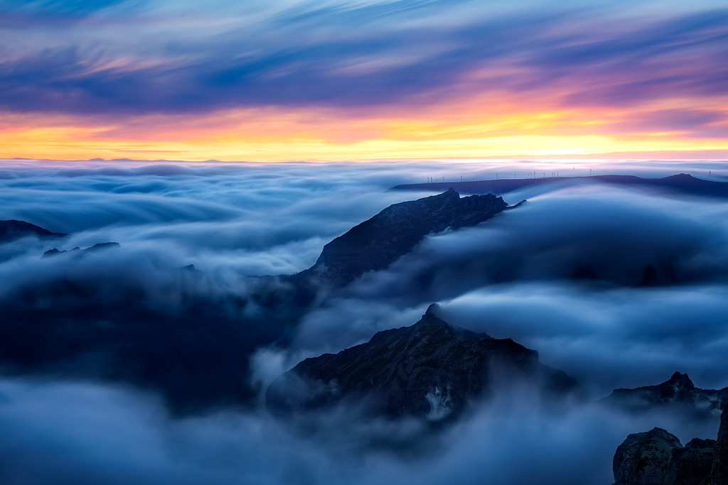 Jazzy swell of clouds (Madeira, Portugal)