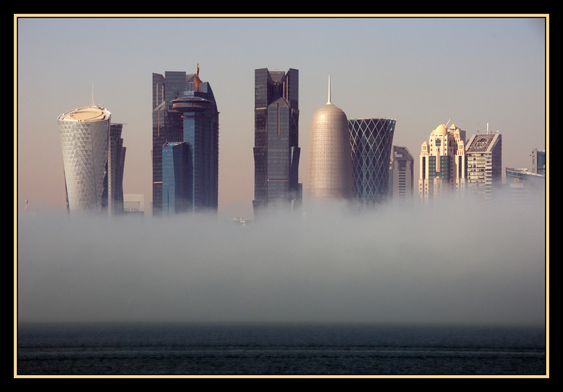 Unusual Fog in Doha, Qatar, Boxing Day, 2016