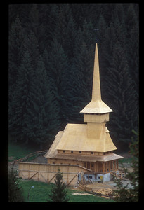 Church under construction, Poiana Brasov, Romania.