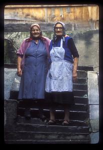 Portrait of best friends, Sighisoara, Transylvania, Romania.