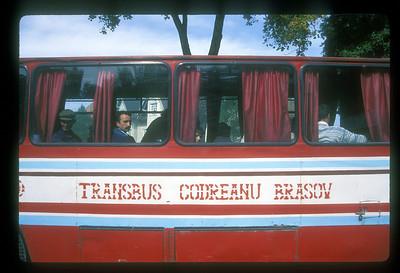 Public transport, Transylvania, Romania.