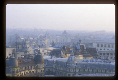 Bucharest, Romania skyline.
