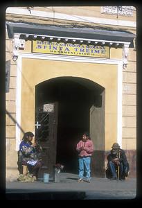 "The sign reads ""Holy Trininty Orthodox Romanian Church,"" Brasov, Transylvania, Romania."