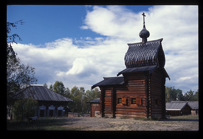 Orthodox Church outside Irkutsk, Siberia, Russia.