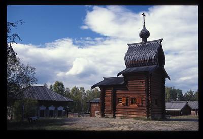 Orthodox Church outside Irkutsk, Siberia, Russia.
