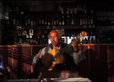 Entertainer in a bar in Listvyanka, Siberia, Russia.