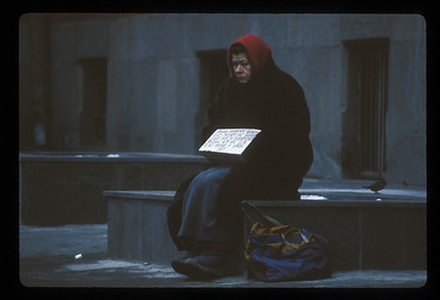 Beggar near Red Square, Moscow, Russia.