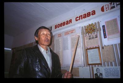 Village headman and his own museum, Hargana, Buryatian Autonomous Republic, Siberia, Russia.