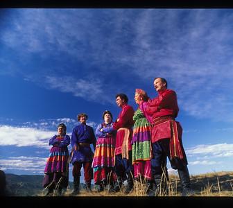 Singing troupe of Old Believers, Buryatian Autonomous Republic, Siberia, Russia.