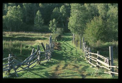 Country lane, Listvyanka, Siberia, Russia.