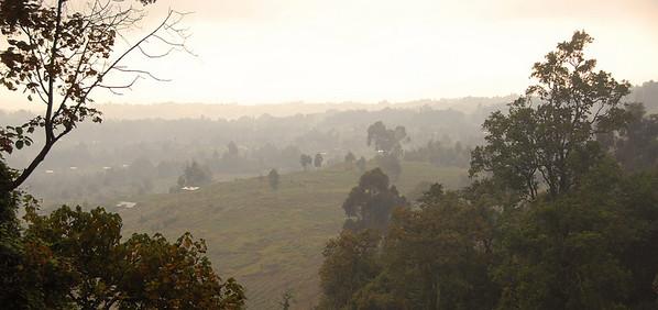 Morning mist, rural Rwanda.
