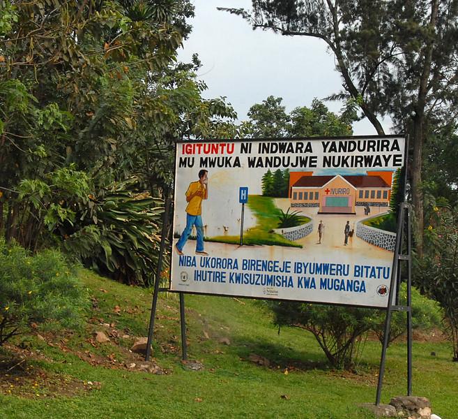 Sign, Gisenyi, Rwanda.