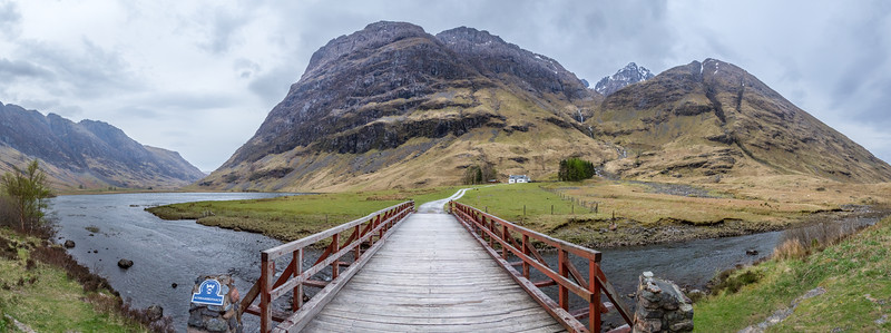 Road to Achnambeithach Cottage in Glencoe Scotland.