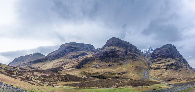 Mountains in Glencoe Scotland.