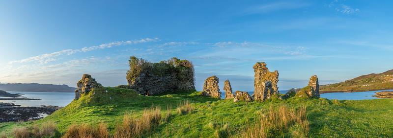 Ruins on the Isle of Skye in Scotland.