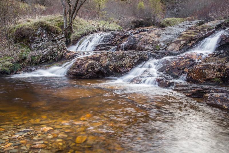 Waterfall in Glencoe Scotland.