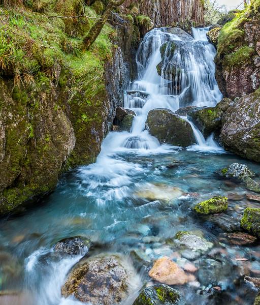 Waterfall in the Glencoe area of Scotland.