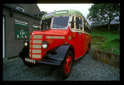 Bus, Hebrides Islands, Scotland.