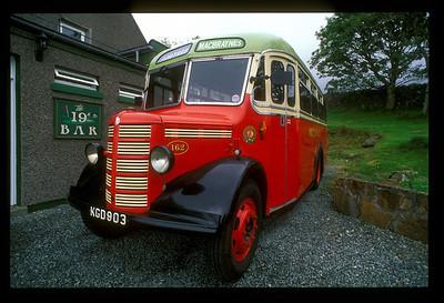 Bus, Hebrides Islands, Scotland.