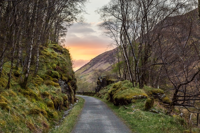 The West Highland Way Trail in Scotland.