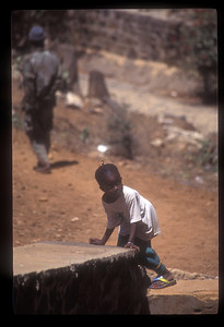 Child at play, Goree Island, Senegal.