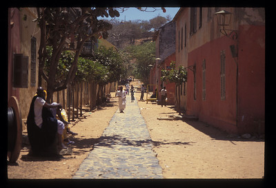 Street on Goree Island, Senegal.