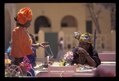 Jewelry traders on Goree Island, Senegal.