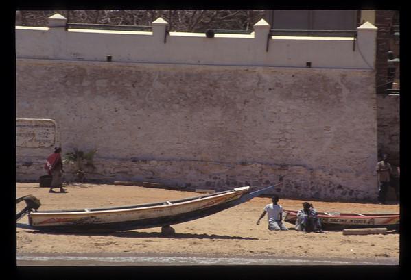 Beach at Goree Island, Senegal.
