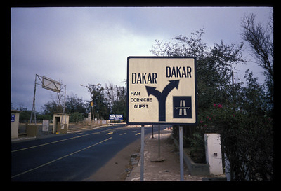 Road sign, Senegal.