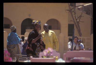 People on Goree Island, Senegal.