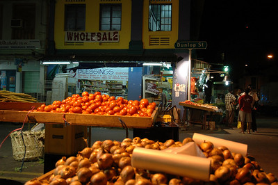 Produce in Indian district, Dunlop Street, Singapore.
