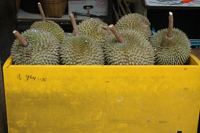Durians, Singapore market.