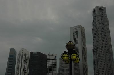 Street lamp, downtown Singapore.