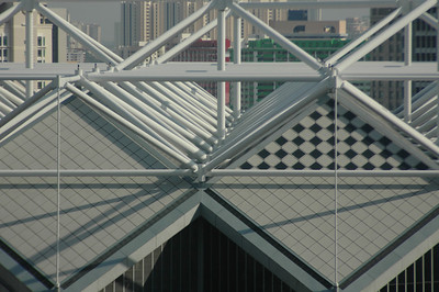 Detail of convention center, Singapore.