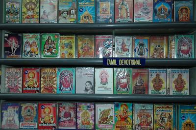 Tamil DVDs, Singapore shop.