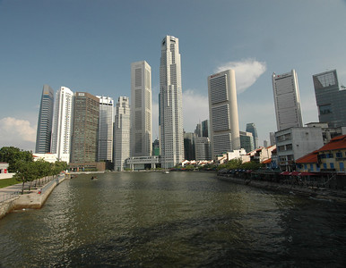Canal, downtown Singapore.