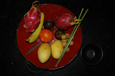 Fruit platter, Singapore hotel.