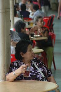 Singapore food market.