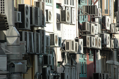 Air conditioning. It's hot in Singapore.