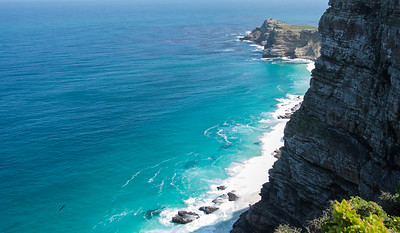 Cape Point. Note the Seal at the  bottom left of the photo.