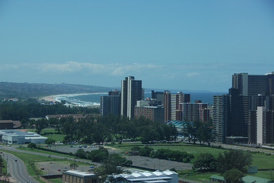 Durban and the Indian Ocean, Kaw-Zulu Natal, South Africa.