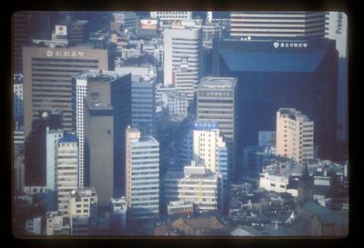 Seoul, South Korea skyline.