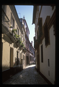 Narrow street, Seville, Spain.