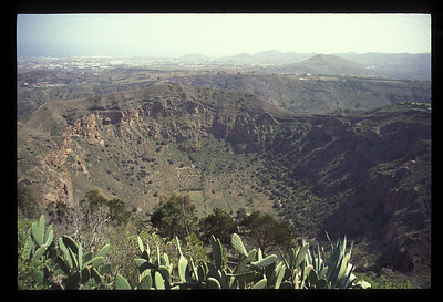 Volcanic crater, Gran Canaria, Canary Islands, Spain.