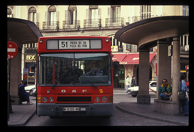 Bus, Madrid, Spain.