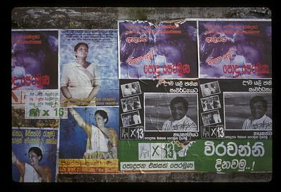 Campaign posters, Sri Lanka.