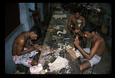 Mask factory, Ambalangoda, Sri Lanka.